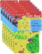 GIFT BAG GIANT 90cm X 24cm X 110cm BIRTHDAY GIFT BAG - 6 Pack