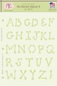 Fairytale Creations No Bones About It Alphabet Stencil, 20cm - 1.3cm L x 28cm H