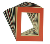 Crescent High Quality Pack of 20 11x14 MIXED colours Cream Core Picture Mats for 8x10 Photos