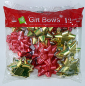 Expressive Designs Stick on Bows - 12 Assorted Medium Size