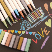 KitMax (TM) Pack of 8 Pcs Cute Colourful DIY Decorative Graffiti Paint Pen Office School Supplies Students Children Gift