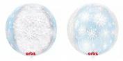 Orbz XL 41cm Snowflake Frozen Christmas Mylar Foil Balloon Party Decoration