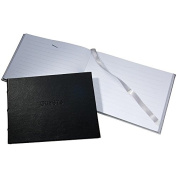 Bound Eco-leather BLACK GUEST BOOK for a lasting record by Graphic Image® -