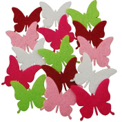 Summer-Ray.com 50pcs Colourful Felt Butterfly Die Cut Embellishment