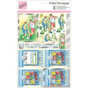 Anita's A4 Foiled Decoupage Sheet-Football Kit