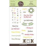 Joy Clair Clear Stamps 10cm x 15cm Many Blessings Sentiments