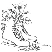 Gourmet Rubber Stamps Cling Stamps 11cm x 16cm Ice Skates