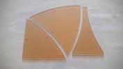 Winding Ways Quilting Template 25cm - 3 Piece Set