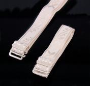 2pairs Rude Adjustable Elastic Jacquard Spaghetti Ribbon Bra Straps 1.5cm Width Halter Straps for Women Bra Accessories WB44b