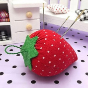 2PCS DIY Craft Strawberry Pin Cushion , Needle Holder Sewing Kit