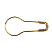 100 Pcs 2cm Metal Gourd Safety Pins Small Wire Pins Craft Bulb Pin Clothing Tag Pins Calabash Pin Bead Needle Pins DIY Home Accessories Gold