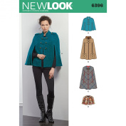 New Look Sewing Pattern UN6396A Autumn Collection Misses' Capes & Capelets Sewing Patterns, A