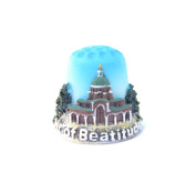 "Thimble Souvenir From Israel & Palestine Sewing Holyland Thimbles Collection ""Mount of Beatitudes"""