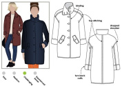 Style Arc Sewing Pattern - Grace Trans-seasonal Coat (Sizes 04-16) - Click for Other Sizes Available
