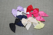 100pieces Craft Assorted Colours Rose Satin Ribbon Bows Appliques for Headband Hair Cloth Wedding Dress Sewing Accessories Xsp2
