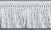 10yards Craft Braided 11.5cm White Polyester Fringe Tassel Trimming Lace Trim for Latin Dress Samba Stage Clothes Curtain Shoes T305