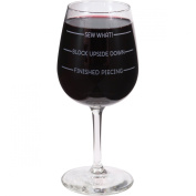 Quilt Happy Wine Glass In Box 350ml-Sew What!