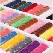 Sewing Thread Sewing Industrial Machine And Hand Stitching Cotton Sewing Thread Set of 39-Colours 402 Fine