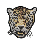 Snow Leopard Wild Cat Embroidered Decorative Patch