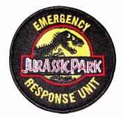 Jurassic Park 8.9cm Emergency Response Unit Embroidered Iron On/Sewn On Patch with Gift Bag