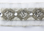 5yards Braided Beaded Sequins Rhinestones Costume Applique Decorated Lace Ribbon Trim for Wedding Dress Sewing Trim T420