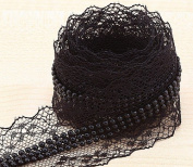 10yards Black Lace Combine Beads Sewing Trim Lace 4cm Sewing Trim T55