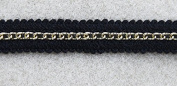 10yards Craft Black Braided Trim Gold Chain Trim Decorated Ribbon Trim for Wedding Dress Clothes Accessories T321