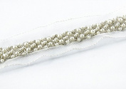 5 yard Braid Beaded Fake Pearls Rhinestones Costume Applique Embellishment Decorated Lace Ribbon Trim For Dress Sewing Trim t413