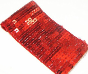 10 Yard 11 Lines Glitter Red Craft Hand Trim Ribbon Sequin Trim Beaded Lace Trim Sewing Trim T90