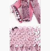 10 Yard 3.6cm Inch 4 Row Pink Trim Elastic Stretch Sequin Sewing Trim T3