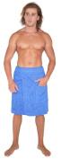 Arus Men's Adjustable Hook and Loop Closure on Waist Turkish Cotton Shower and Bath Wrap