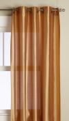 Editex Home Textiles Elaine Grommets Window Panel, 150cm by 210cm , Gold