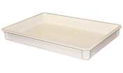 MFG Tray 8700085269 Toteline Stacking Container, Glass Fibre Reinforce, Plastic Composite, 70cm x 45cm x 7.6cm , White