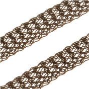 SilverSilk 8-Needle Flat 4.8mm Knit Wire Mesh - Vintage Bronze - By The Foot