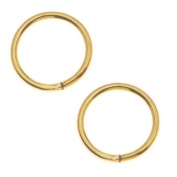 22K Gold Plated 8mm Open Jump Rings