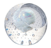 Ice Dwarf Pluto Inspired Hand Blown Glass Paperweight