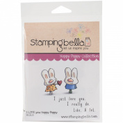 Stamping Bella Cling Rubber Stamp 17cm x 11cm -I Love You Hoppy Poppy