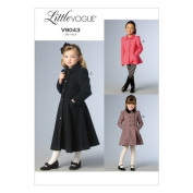 Vogue Patterns V9043 Children's/Girls' Jacket and Coat Sewing Template, Size CL