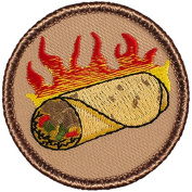 Flaming Burrito Patrol Patch - 5.1cm Round.