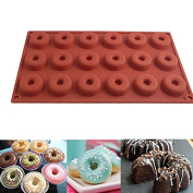 Dan Speed 18Cav Donuts Doughnuts Cake Silicone Baking Mould Pan Bread Dessert Chocolate Ice