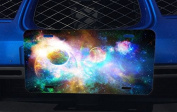 Colourful Galaxy Aluminium Licence Plate for Car Truck Vehicles