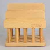 New Wooden Dual Cutting Board Rack Chopping Board Organiser Stand Holder Kitchen