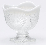 Spooner Spoonholder - Shell - Crystal French Opalescent - Mosser USA