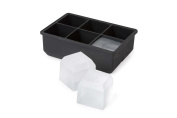 Core Home Essential Silicone Ice Cube Tray 6 Large- Black colour