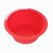 X-Haibei Giant Cupcake Pan Round Chocolate Cake Bread Bakeware Silicone Mould
