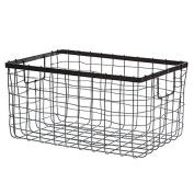 Black Steel Wire Utility Basket - Small