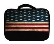 American Flag Design Pattern Print Canvas Lunch Bag by Trendy Accessories