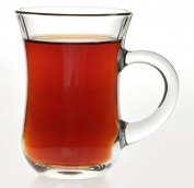 Pasabahce Turkish Tea Glasses with Handle Set of 6 Gift Box