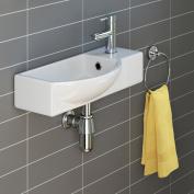 iBathUK | Modern Ceramic Cloakroom Basin Compact Wall Hung Bathroom Sink CA1007