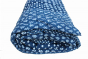 LUXURY INDIAN PATCHWORK INDIGO TWIN BED DUVET QUILT COVER REVERSIBLE BEDDING BY MANGO GIFTS